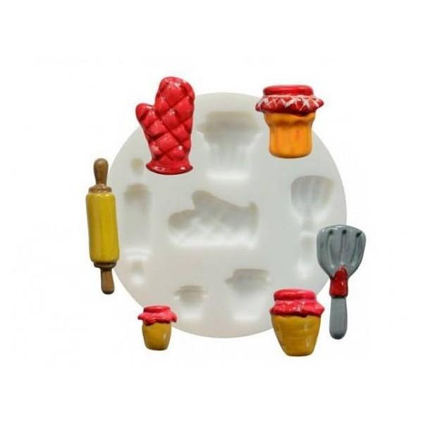 1 MINI MOULE EN SILICONE Cuisine FIMO SCULPEY CERNIT DTM 284401 - Photo n°1