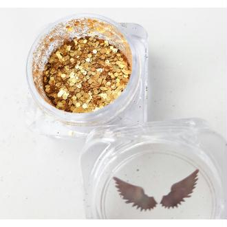 Bio Glitter Or mix paillettes cosmétique biodégradables