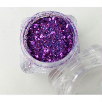 Bio Glitter Fuchia paillettes cosmétique biodégradables