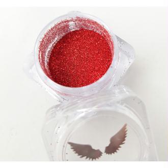 Bio Glitter Rouge paillettes cosmétique biodégradables