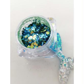 Bio Glitter Mix Sirène paillettes cosmétique biodégradables
