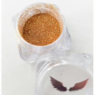 Bio Glitter Or fin paillettes cosmétique biodégradables