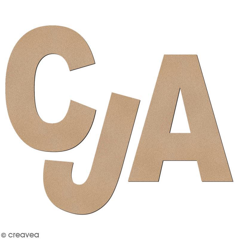 Lettre en bois à décorer 3,2 cm - Au choix - Police Sans Serif - Photo n°1
