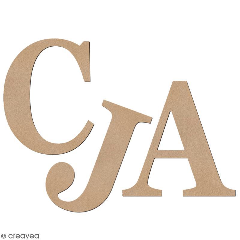 Lettre en bois à décorer 3,2 cm - Au choix - Police Serif - Photo n°1