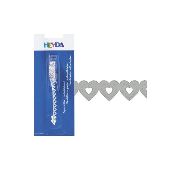 Dentelle en papier, auto-adhésive - Argent - Photo n°1