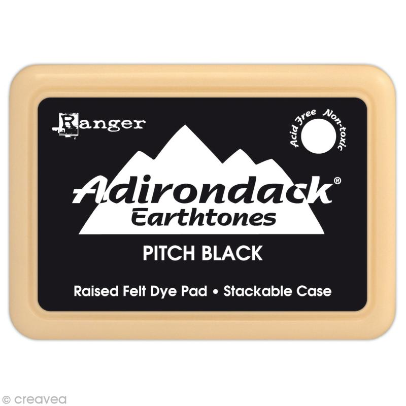 Encreur Adirondack Earthtones - Encre Noir (Pitch Black) - Photo n°1