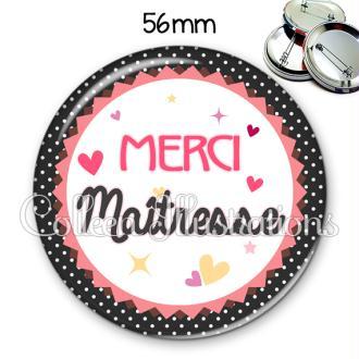 Badge 56mm Merci maîtresse