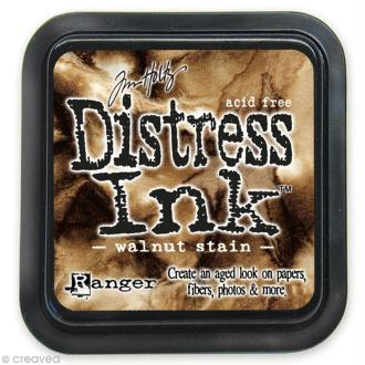 Encreur Distress Ink - Encre Marron Noyer