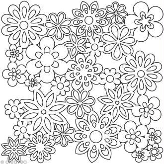 Pochoir scrapbooking 30 x 30 cm - Fleurs