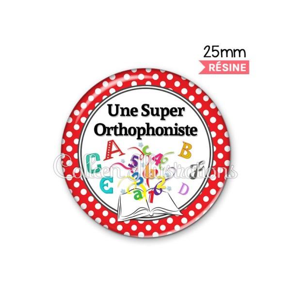 Cabochon en résine epoxy Une super orthophoniste - Photo n°1