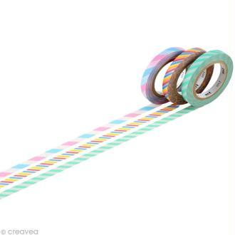 Masking Tape - Slim twist - Assortiment 3 rouleaux A - 6 mm x 10 m