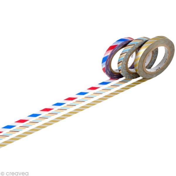 Masking Tape - Slim twist - Assortiment 3 rouleaux C - 6 mm x 10 m - Photo n°1