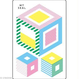 Masking Tape Seal Set K - 12 motifs repositionnables