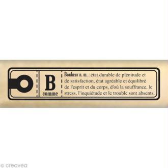 Tampon Etiquette - Etiquette à glisser bonheur - 7 x 2 cm