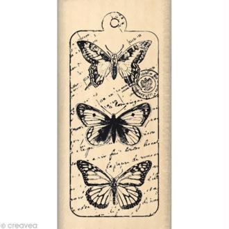 Tampon Nature - Envolée de papillons - 6 x 3 cm