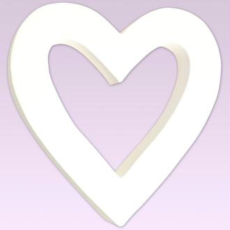 Coeur à suspendre en carton 20 cm