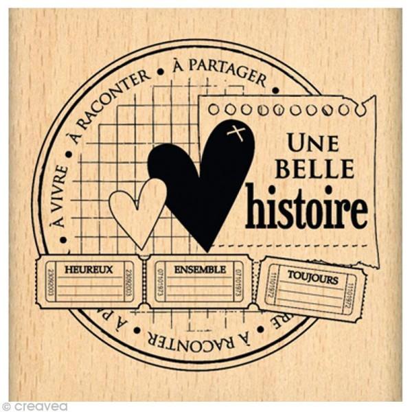 Tampon Amour - Histoire à partager - 7 x 7 cm - Photo n°1