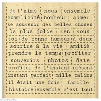 Tampon Amour - Mille mots - 8 x 8 cm