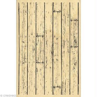 Tampon Fond - Planches de bois - 15 x 10 cm