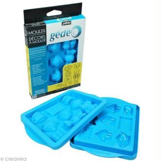 Décor à mouler Gourmandises en silicone 13 x 18,5 cm - 8 moules