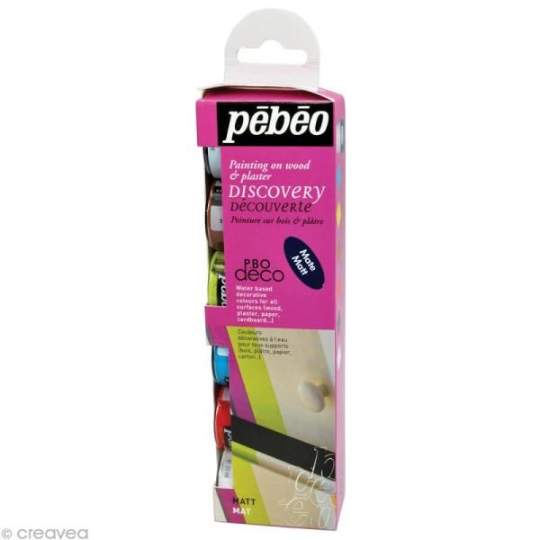 Kit découverte Pébéo - P.BO Déco mat 6 x 20 ml - Photo n°1