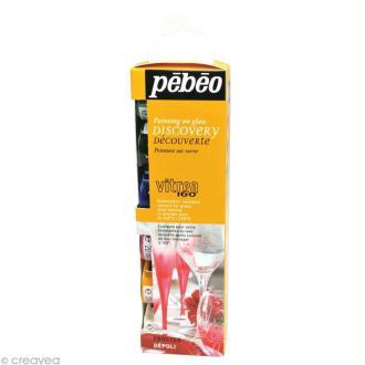 Kit découverte Pébéo - Peinture verre V160 dépoli 6 x 20 ml