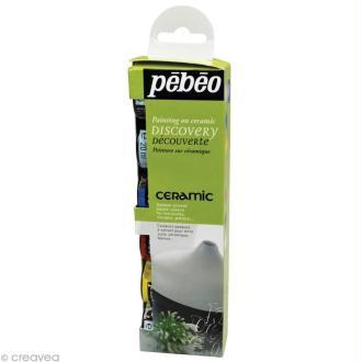 Kit découverte Pébéo - Peinture Céramic 6 x 20 ml
