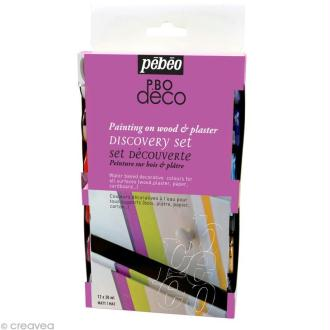 Kit découverte Pébéo - P.BO Déco mat 12 x 20 ml