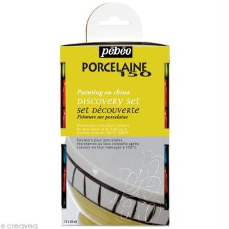 Kit découverte Pébéo - Peinture porcelaine P150 12 x 20 ml