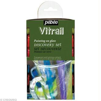 Kit découverte Pébéo - Peinture Vitrail 12 x 20 ml