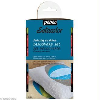 Kit découverte Pébéo - Peinture textile Setacolor 12 x 20 ml