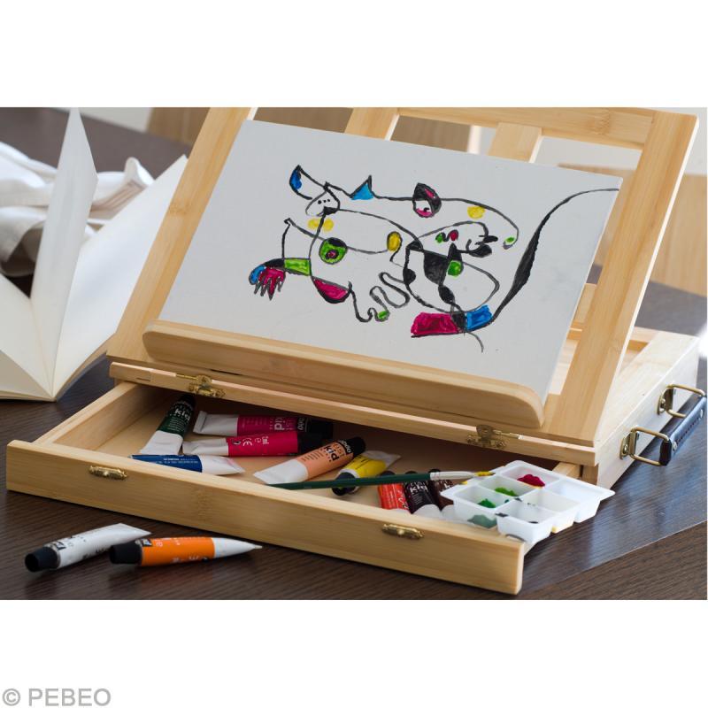 artist kid coffret peinture acrylique chevalet kit. Black Bedroom Furniture Sets. Home Design Ideas