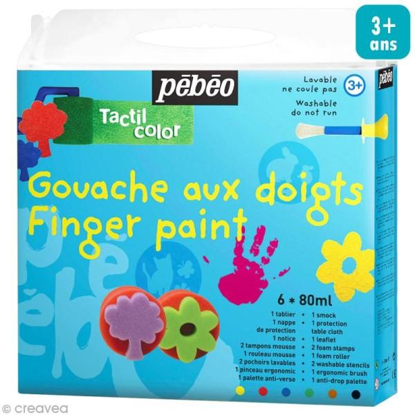 Kit peinture gouache aux doigts Tactil Color - Photo n°1
