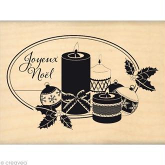 Tampon Noël - Noël à la bougie - 8 x 6 cm