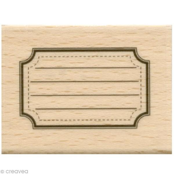 Tampon étiquette - Etiquette école - 5 x 4 cm - Photo n°1