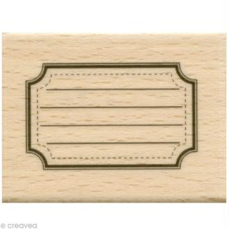 Tampon étiquette - Etiquette école - 5 x 4 cm