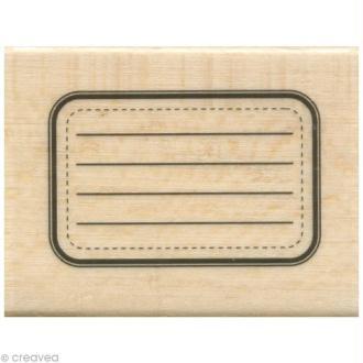 Tampon étiquette - Etiquette rectangle - 5 x 4 cm