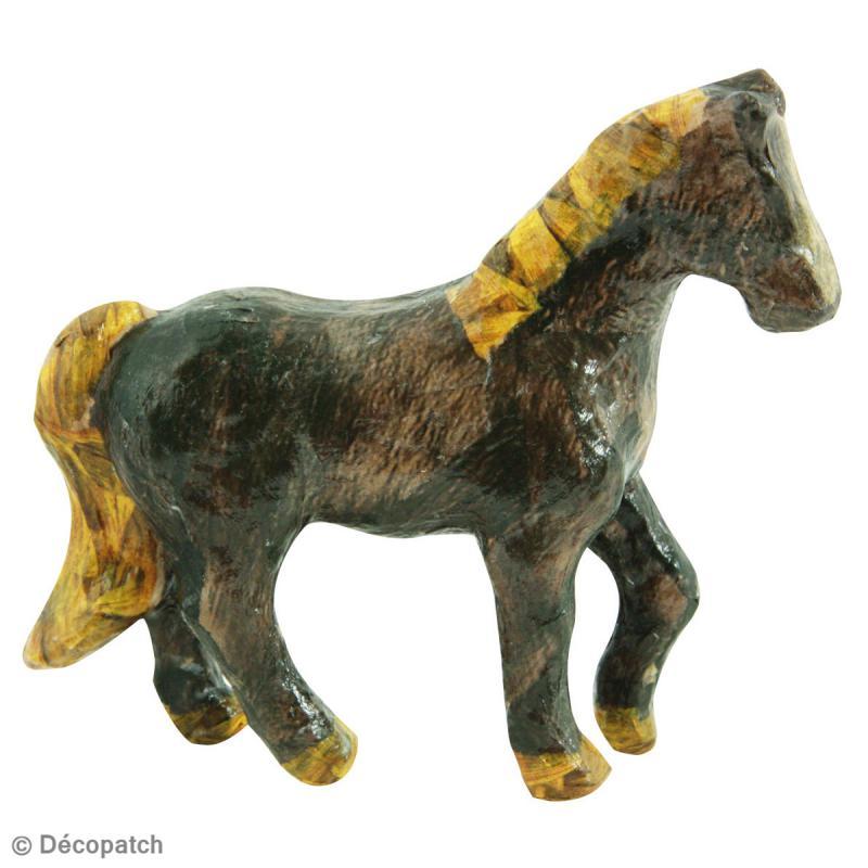 cheval en papier mach 12 cm animaux de la ferme d corer creavea. Black Bedroom Furniture Sets. Home Design Ideas