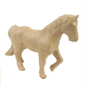 Cheval en papier maché 12 cm