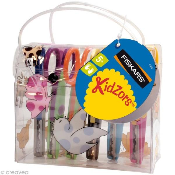 Ciseaux cranteurs Fiskars - Kidzors - Pochette de 6 - Photo n°1