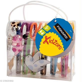Ciseaux cranteurs Fiskars - Kidzors - Pochette de 6