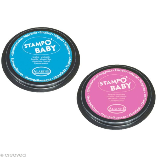 Encreur Stampo baby Turquoise / rose x 2 - Photo n°2