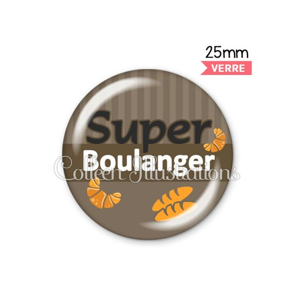 Cabochon en verre Super boulanger - Photo n°1