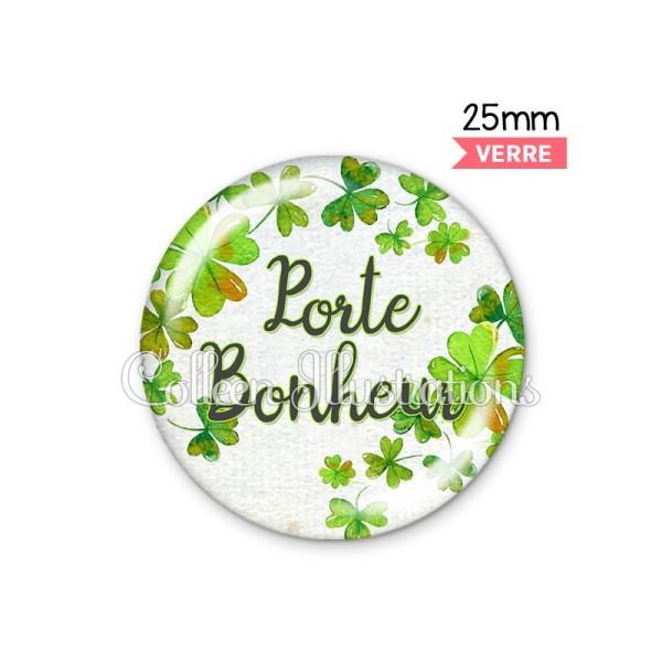 Cabochon en verre Porte-bonheur - Photo n°1