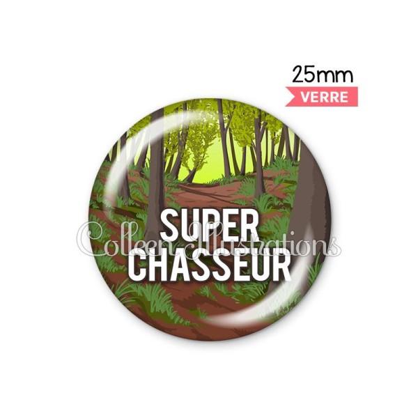 Cabochon en verre Super chasseur - Photo n°1