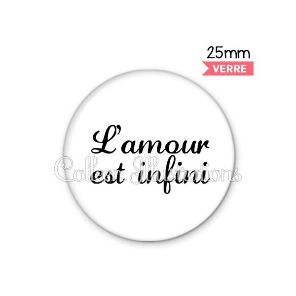 Cabochon en verre L'amour est infini - Photo n°1
