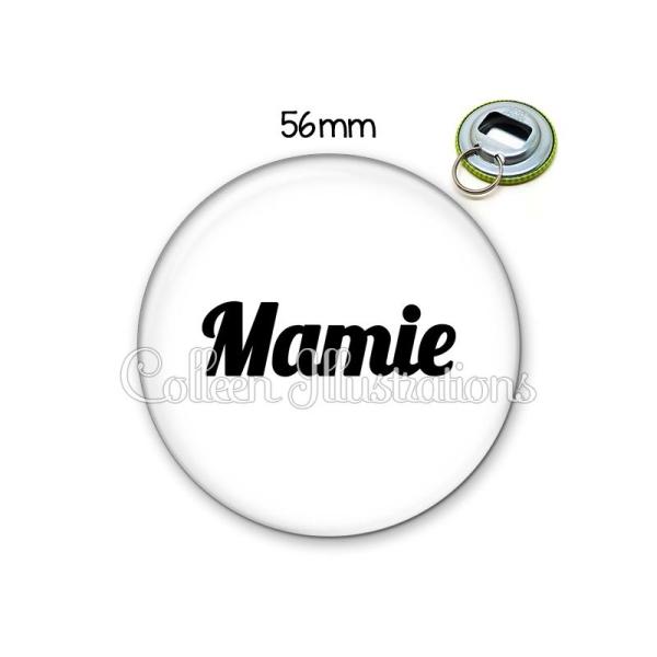 Décapsuleur 56mm Mamie Porte-clés Porte-clefs - Photo n°1