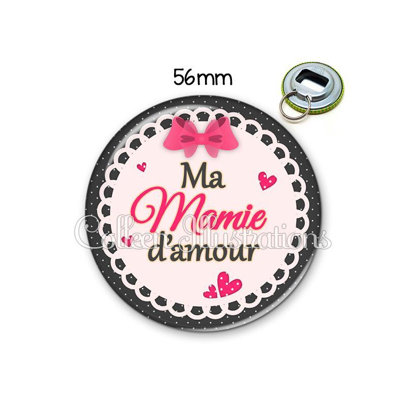 D capsuleur 56mm ma mamie d 39 amour porte cl s porte clefs for Amour de cuisine basboussa