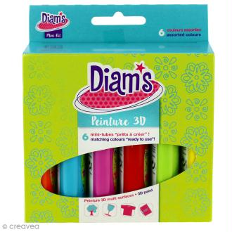 Kit peinture 3D Diam's - Total pop 20 ml x 6
