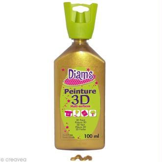 Peinture 3D Diam's 100 ml - Nacré or antique